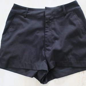 Divided High Waisted Black Shorts Size 4